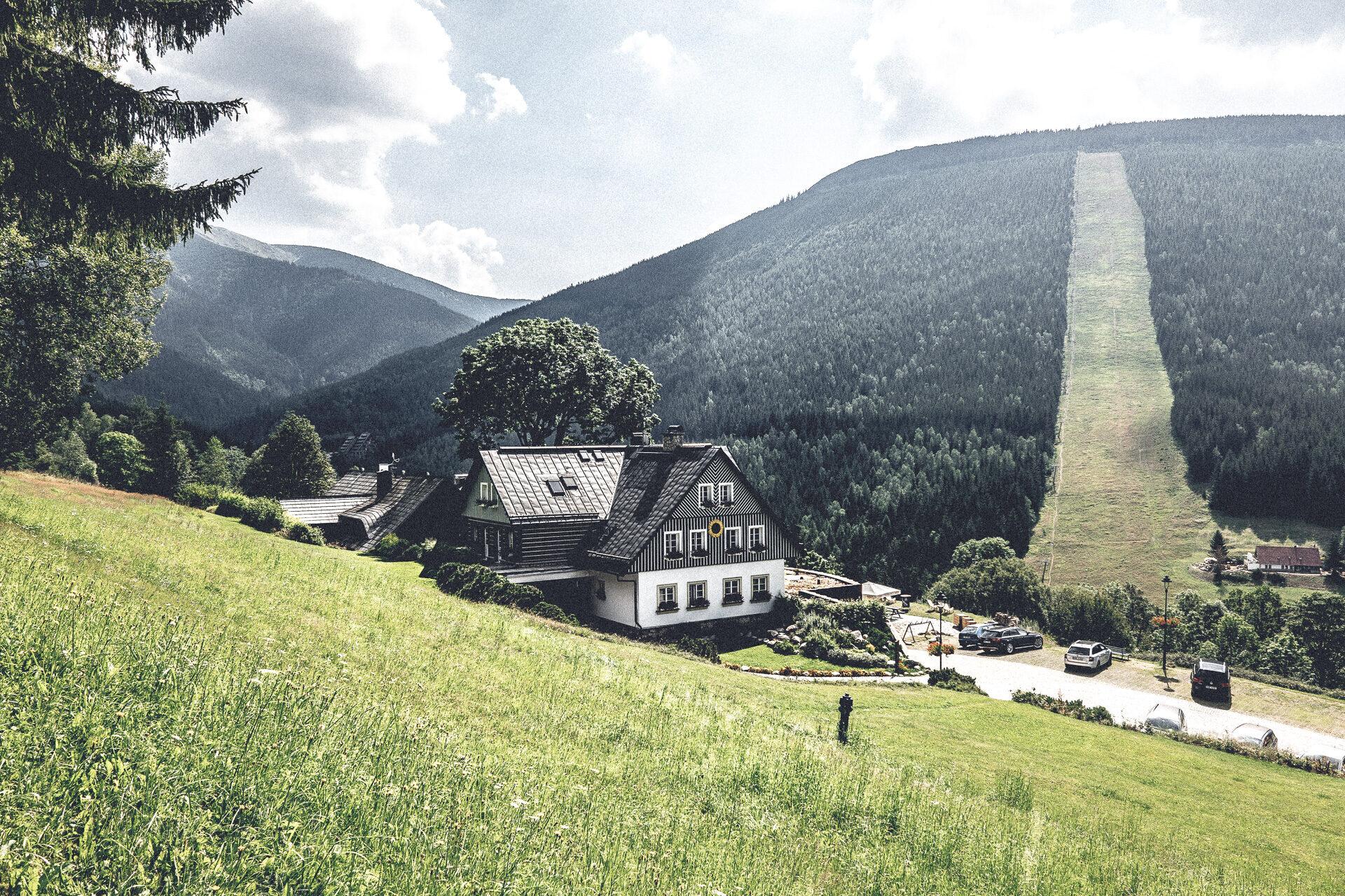 Ein vorerst letzter Blick ins Tal von Spindlermühle