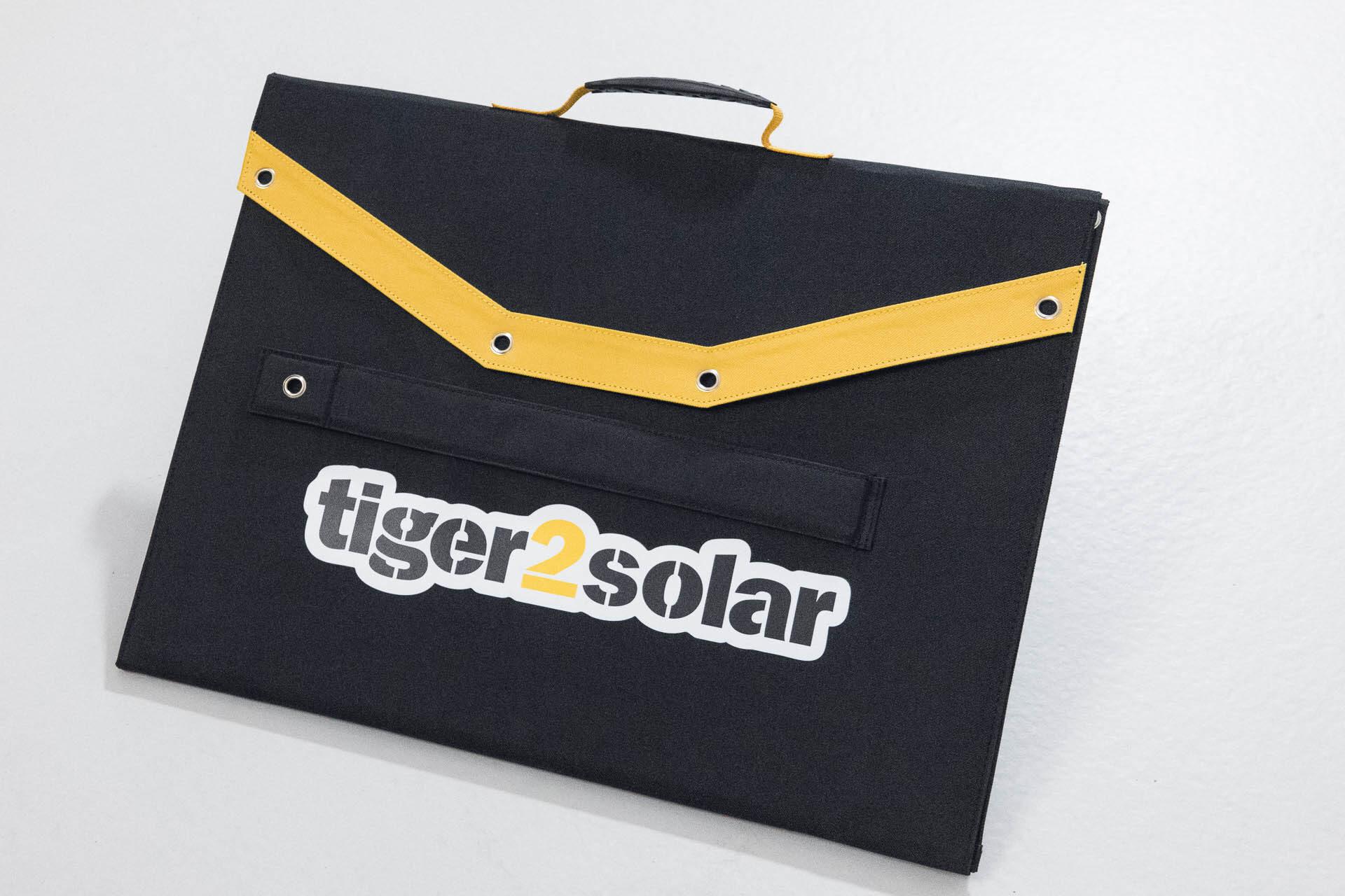 Aussenansicht der Solartasche Tiger2Solar