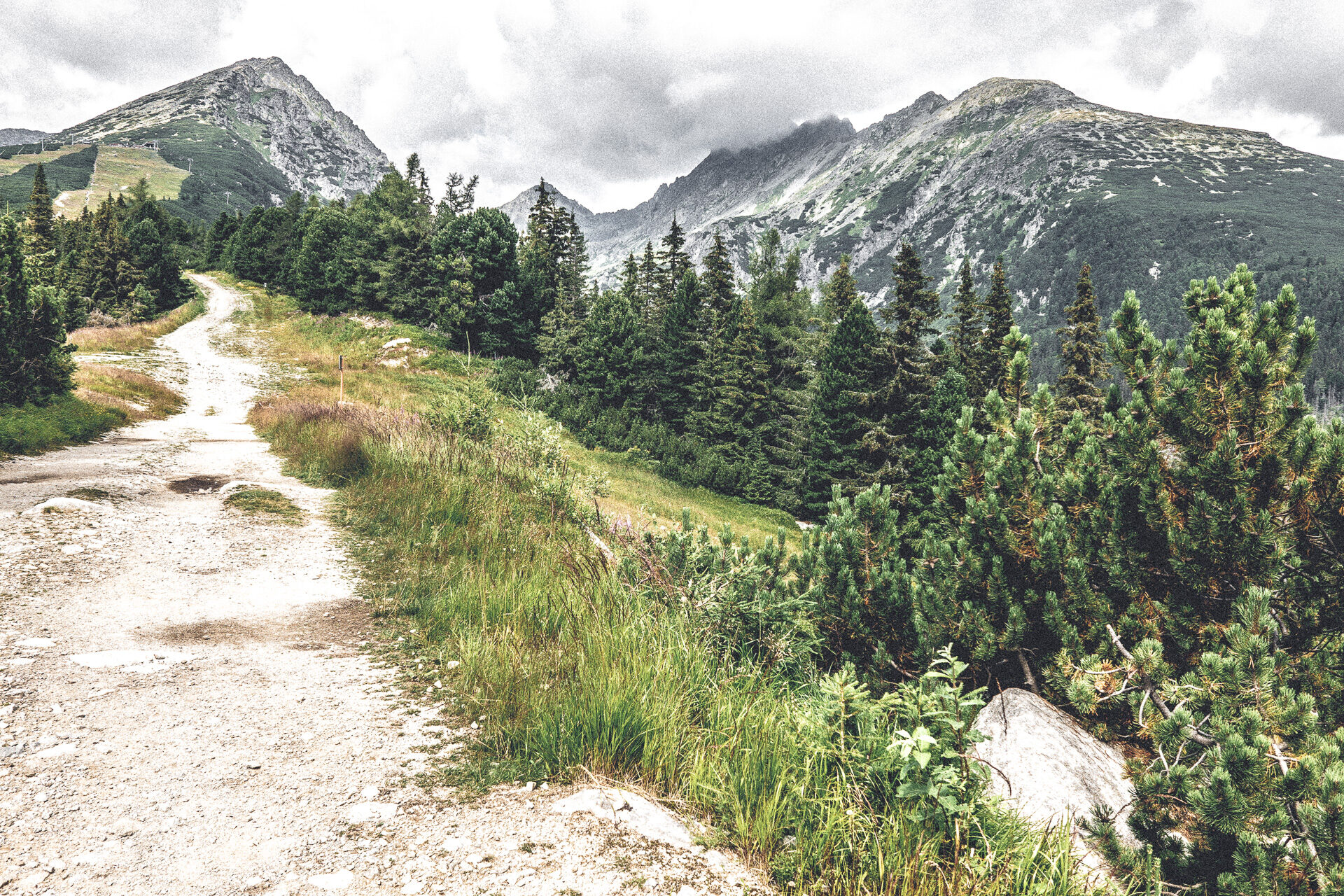 Wanderweg zum Predne Solisko