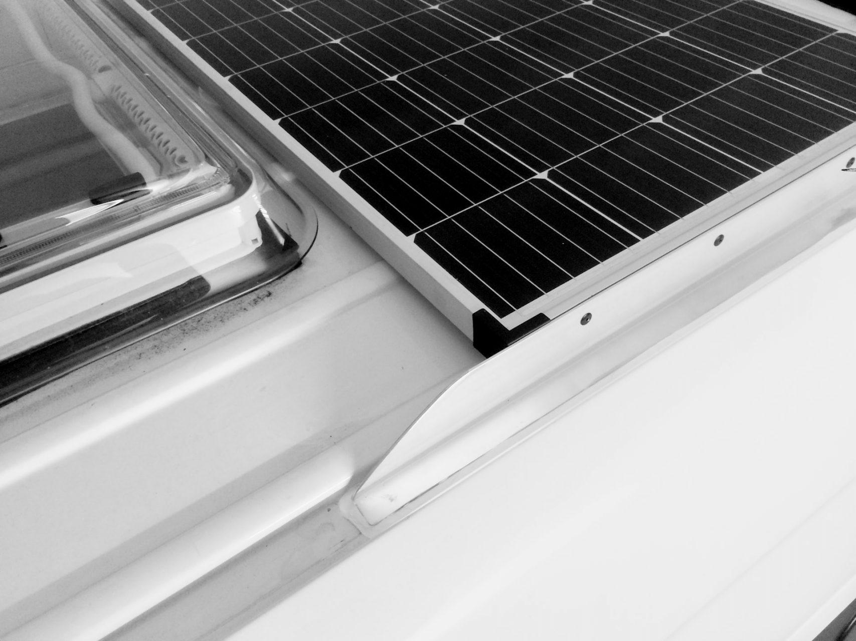Solarpanel auf Sprinter
