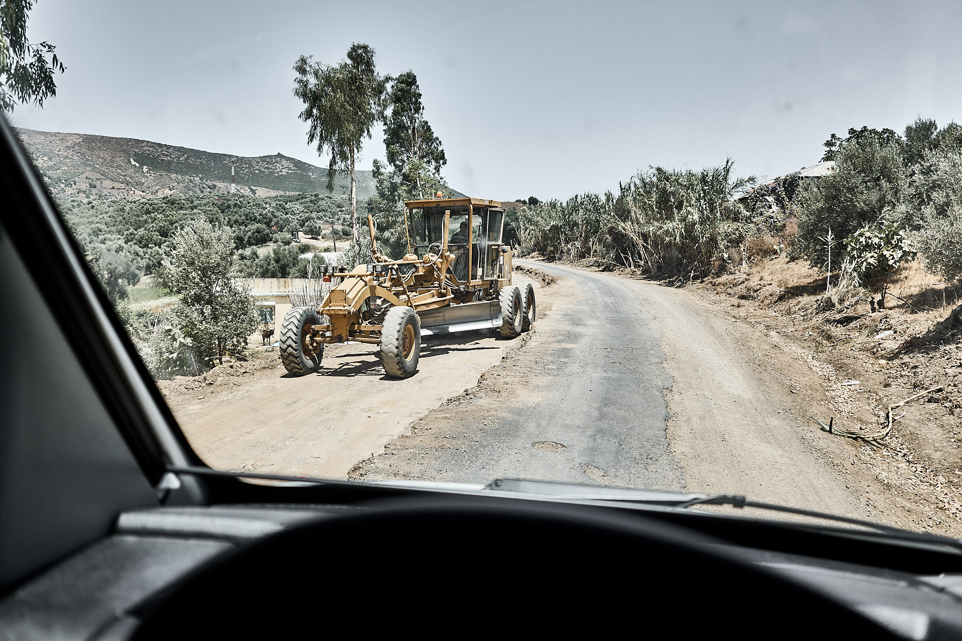 Strassenbau in Marokko