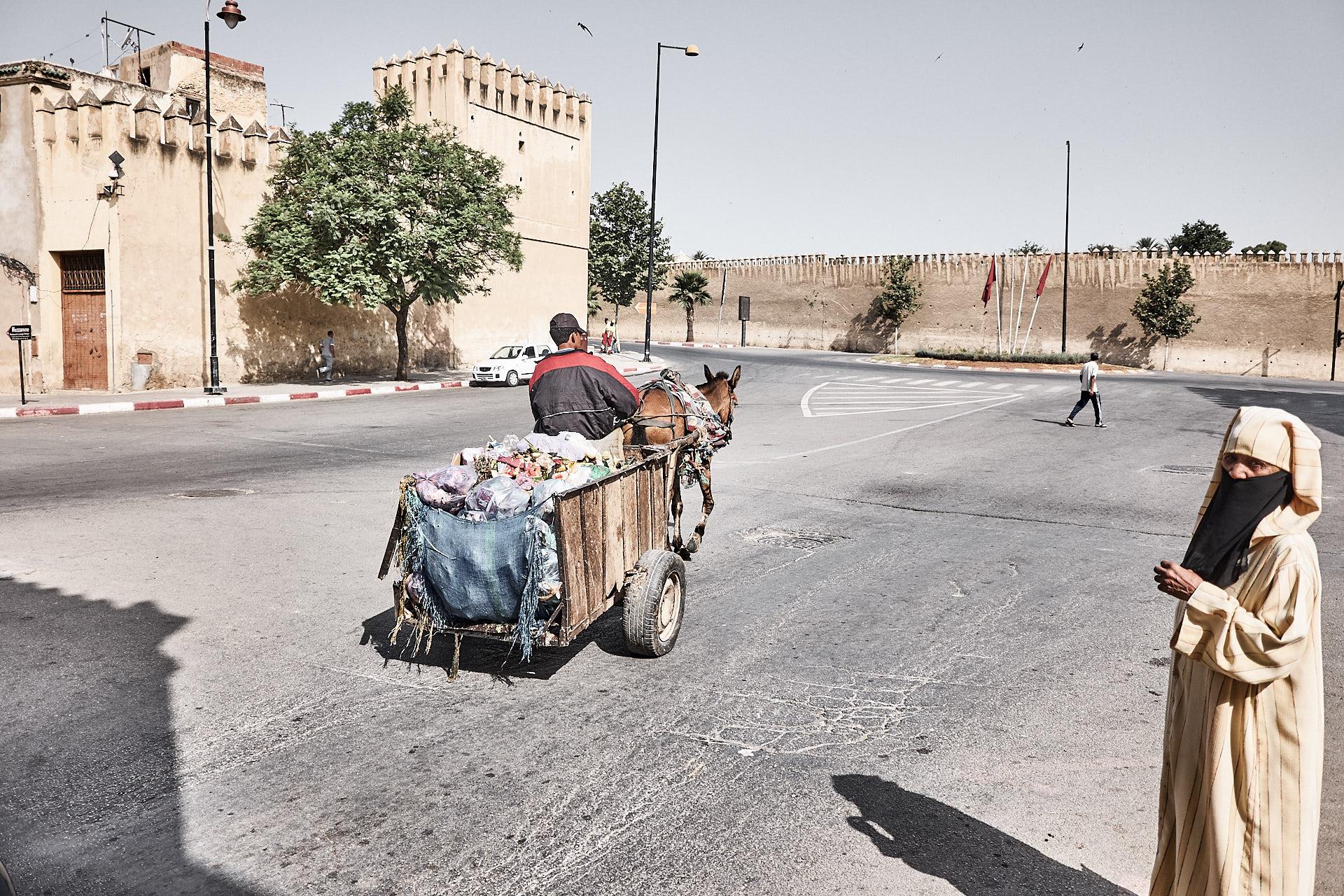 Fès, Medina, Müllabfuhr