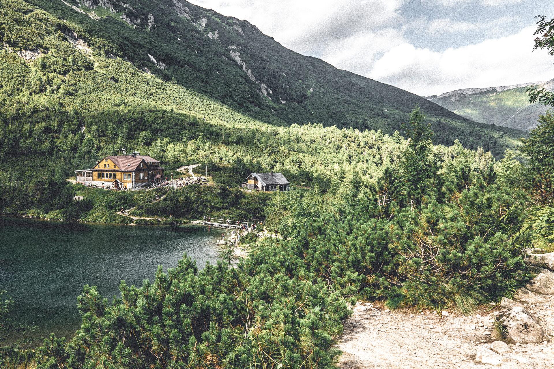 Ankunft am Zelene Pleso, Slowakei