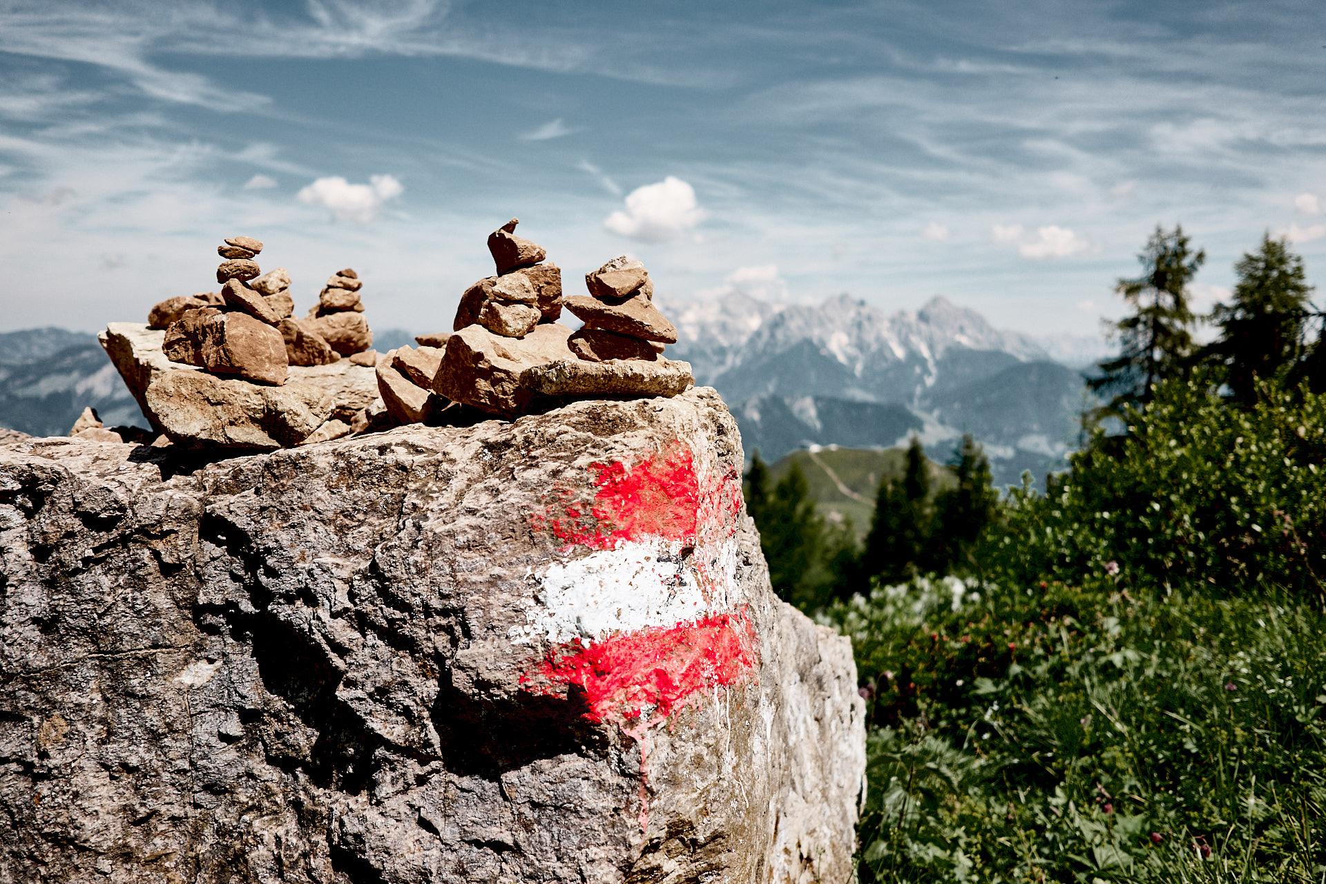 Steinmandl in den Alpen