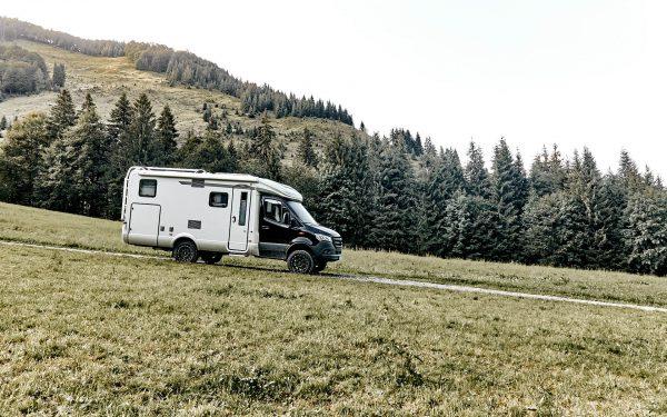 Alpenpässe mit dem Wohnmobil, Hymer 580 MLT 4x4, Allrad, Alpen, Österreich