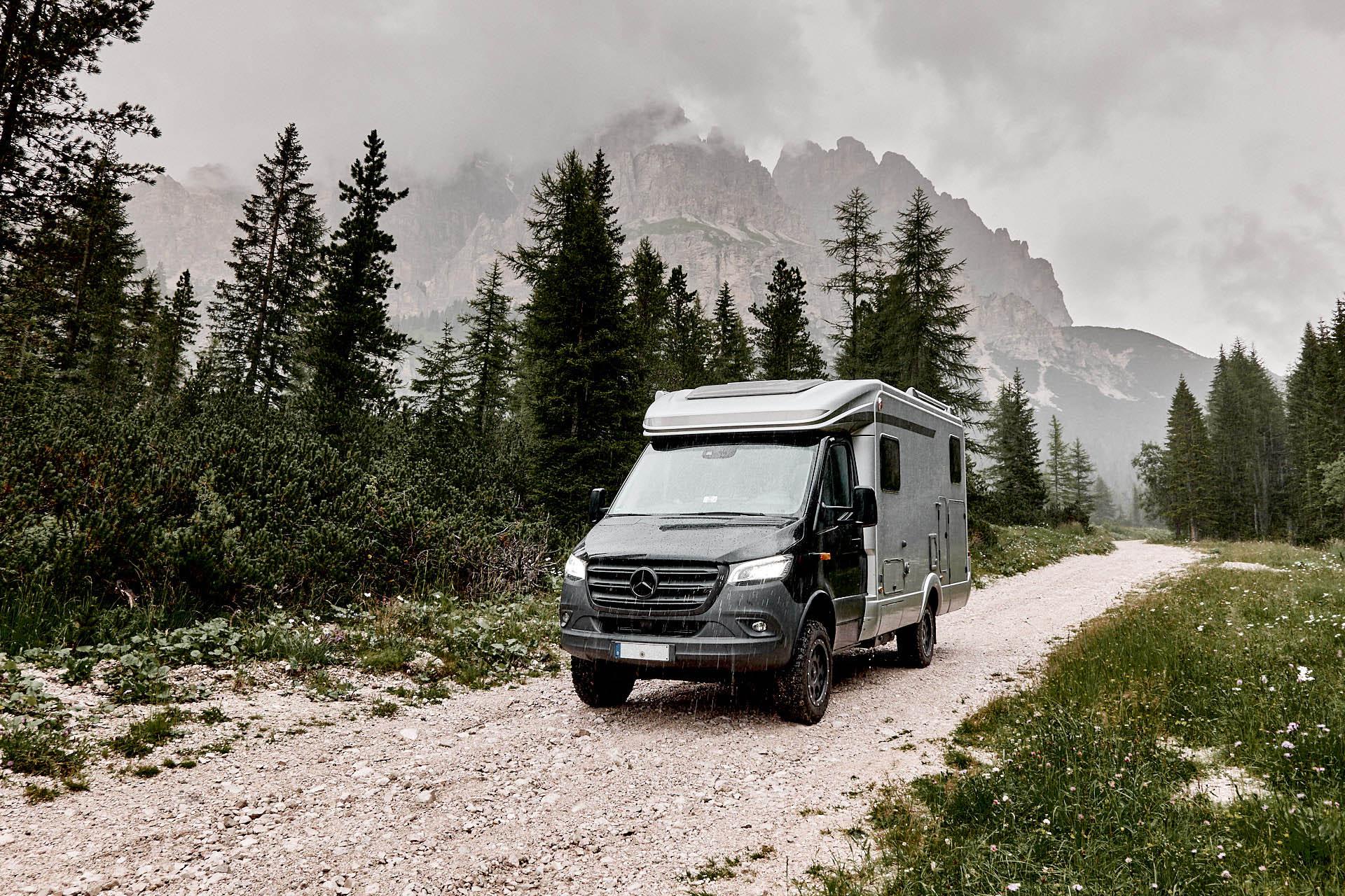 Hymer MLT, 4x4 in den Alpen