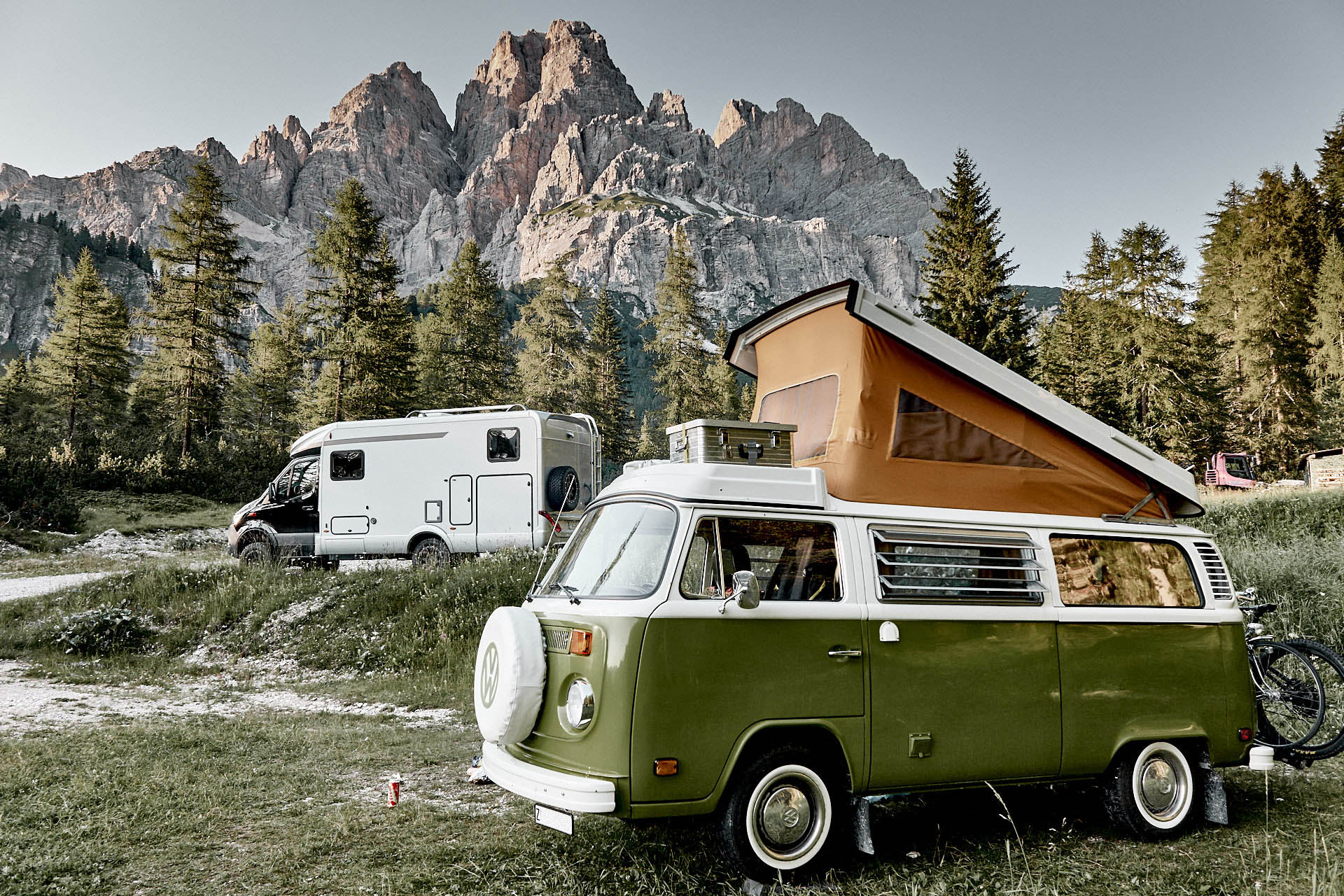 9 Alpenpässe mit dem Wohnmobil, Bulli, Hymer MLT, Monte Cristallo