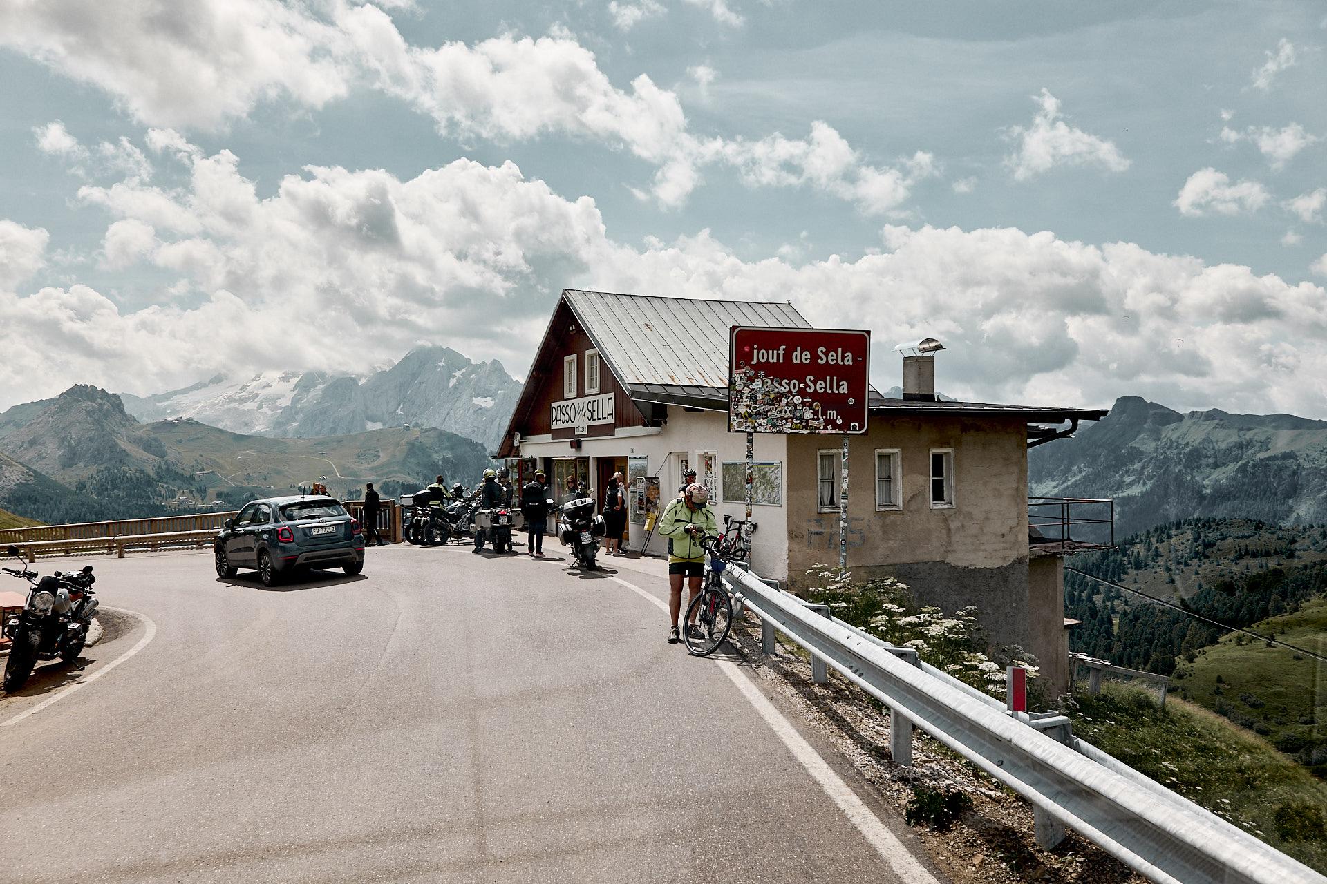 Sellajoch, italienischer Alpenpass in den Dolomiten