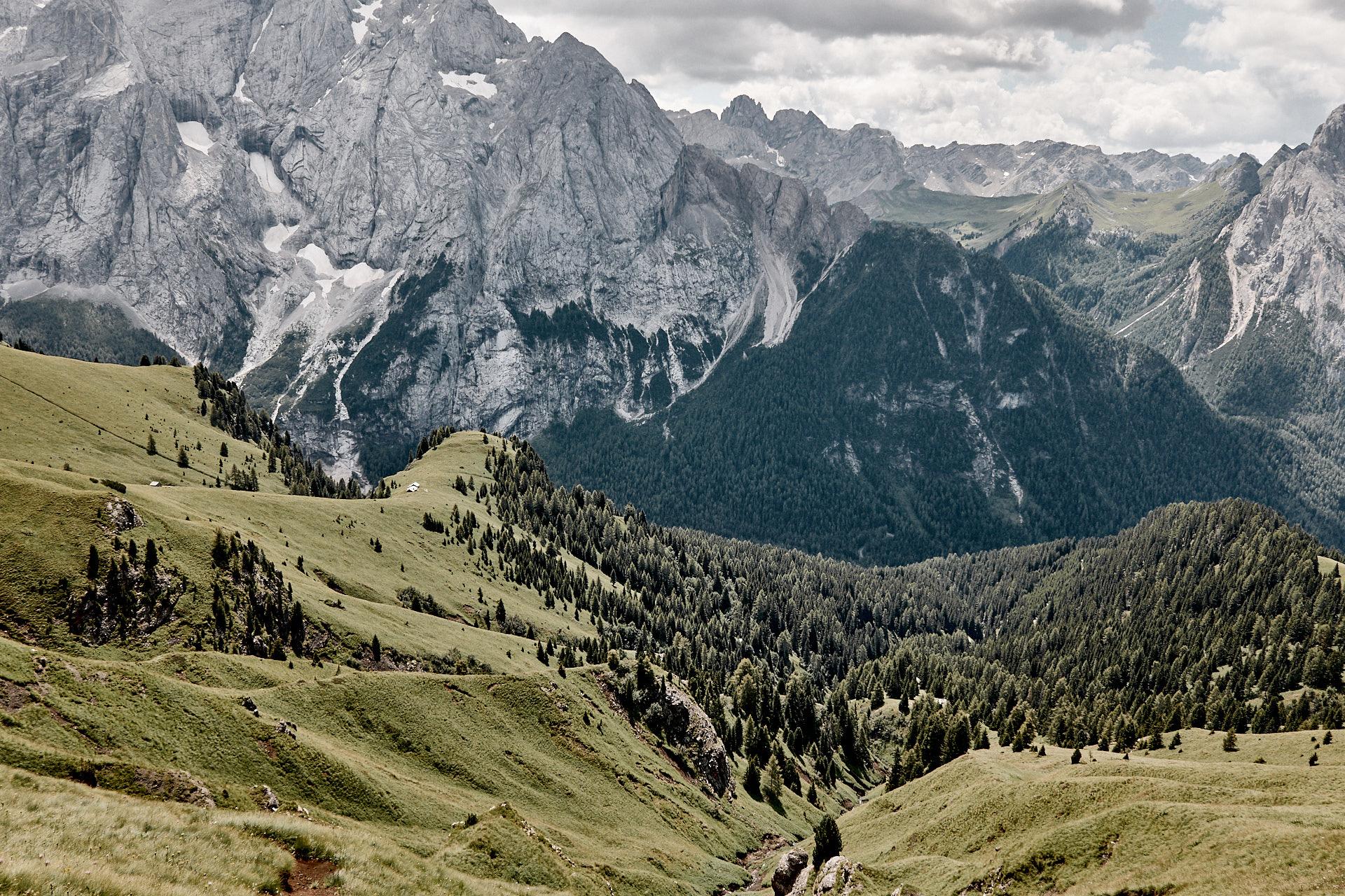 Auf dem Wanderweg zum Lago Di Fedia über den Col dei Rossi, Rif Baita Fredarola, Italien, Trentino, Dolomiten, Alpen, wandern, Wanderung