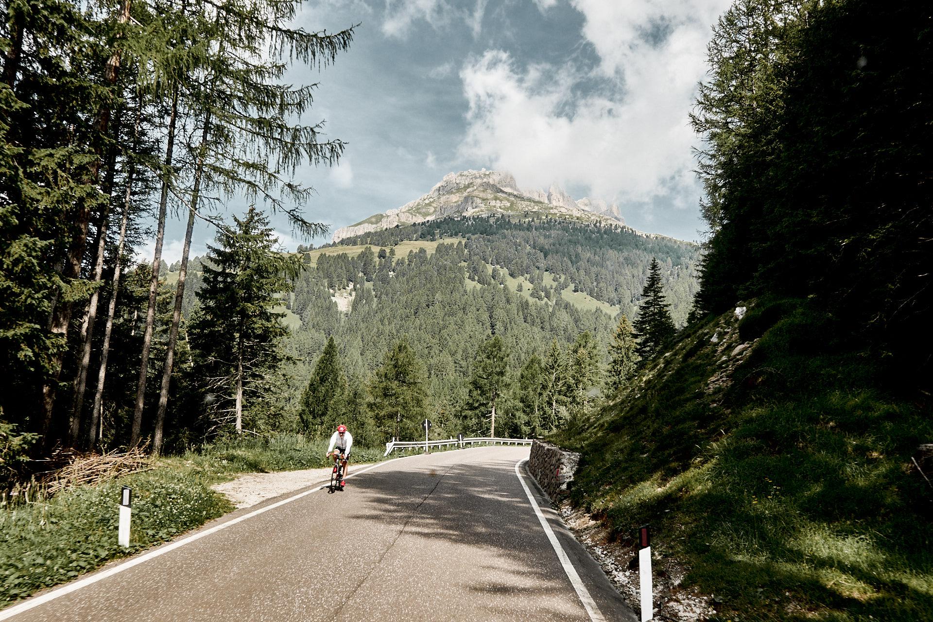 Mit dem Rennrad über den Karerpass