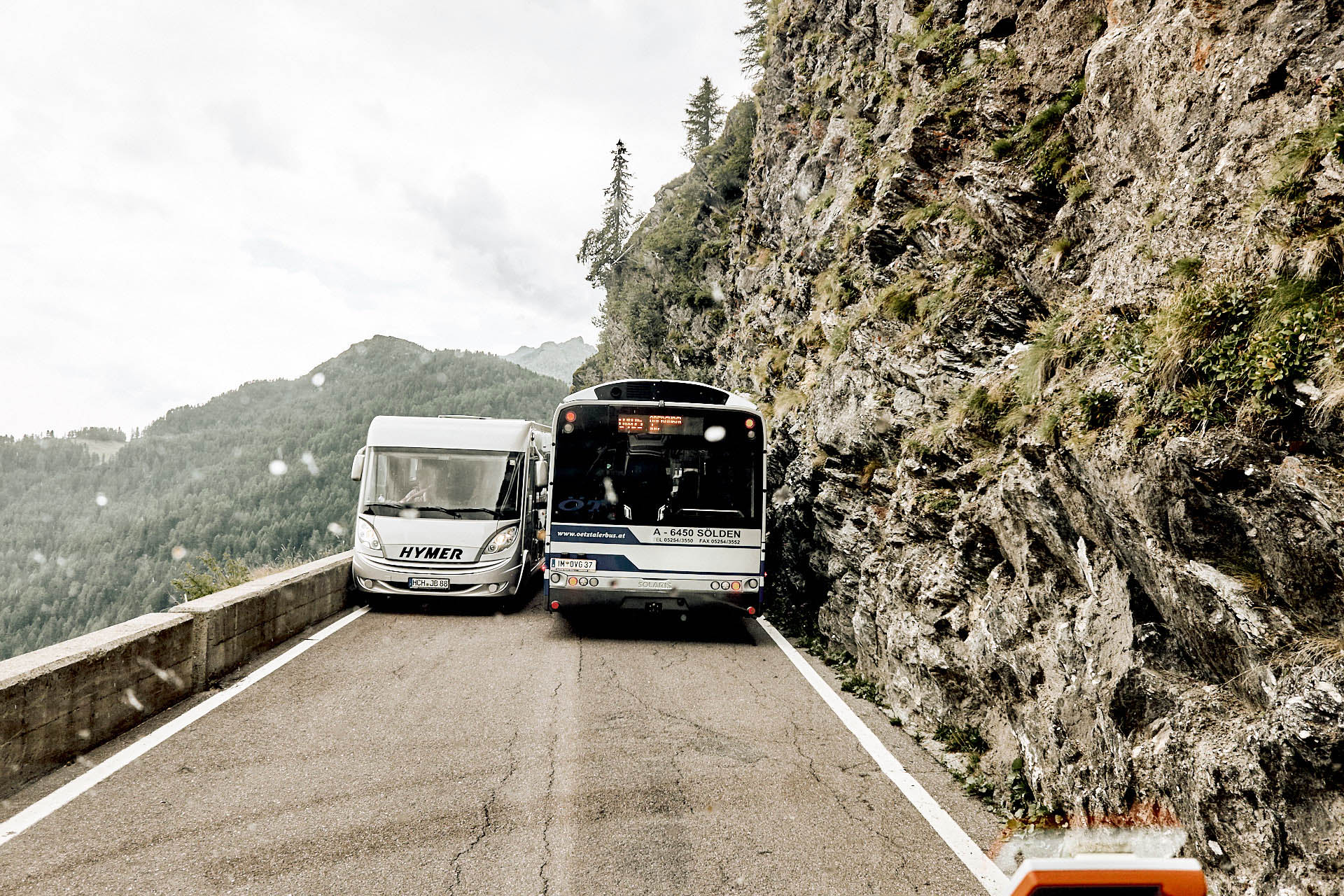 Engstellen für Bus und Wohnmobil