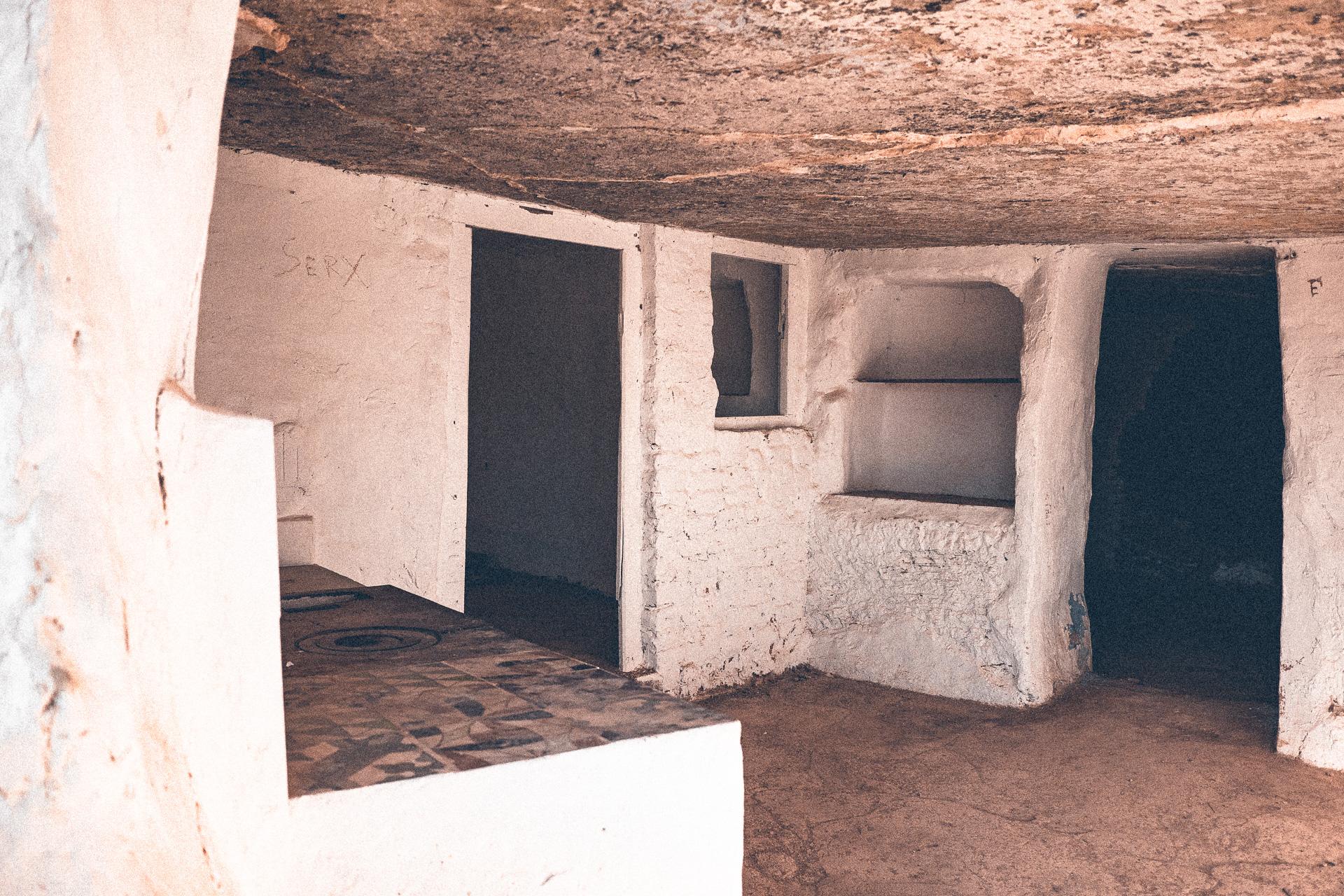 Eingangsbereich einer Höhlenwohnung