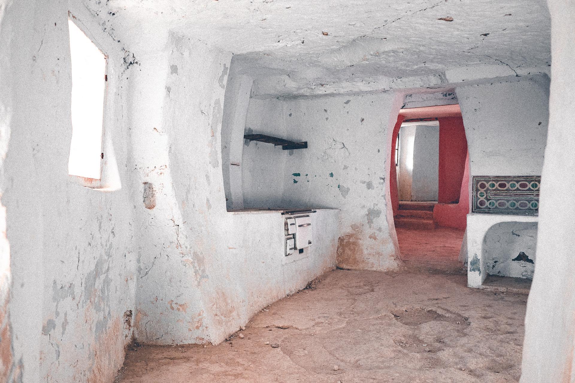Küche einer Höhlenwohnung