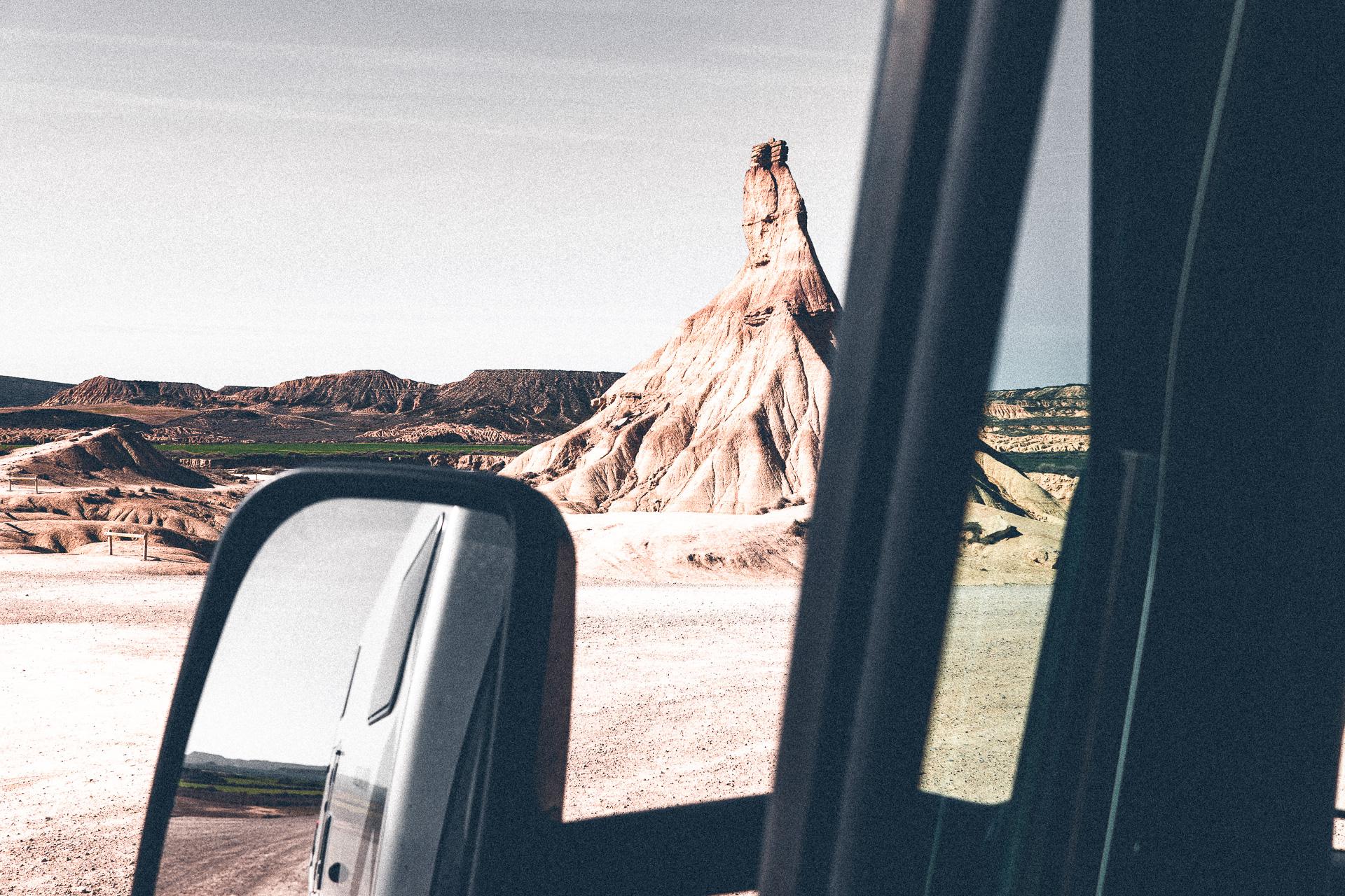 Wohl bekanntestes Bild der Halbwüste Bardenas Reales
