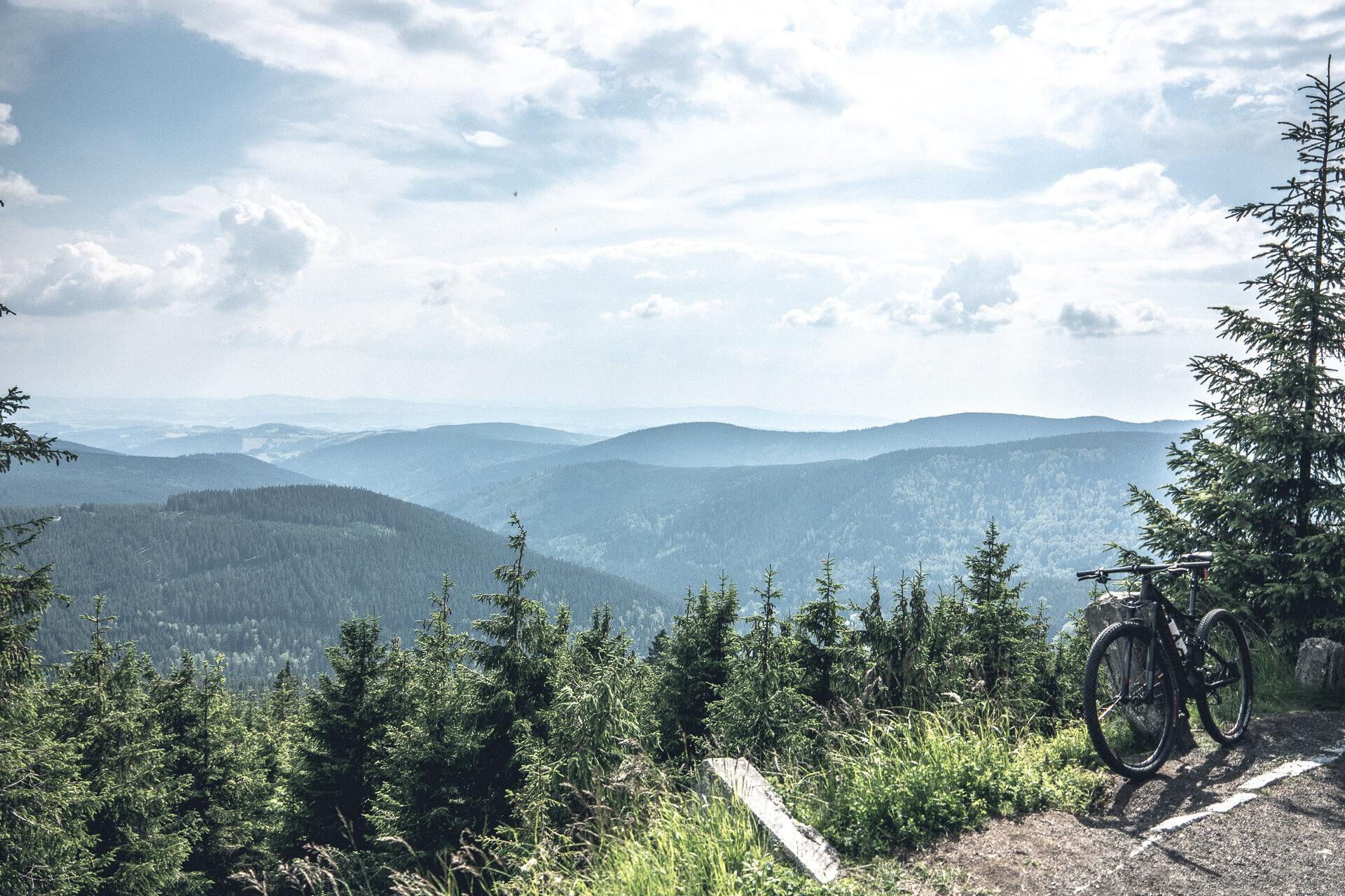 Mit dem Mountainbike zur Elbquelle