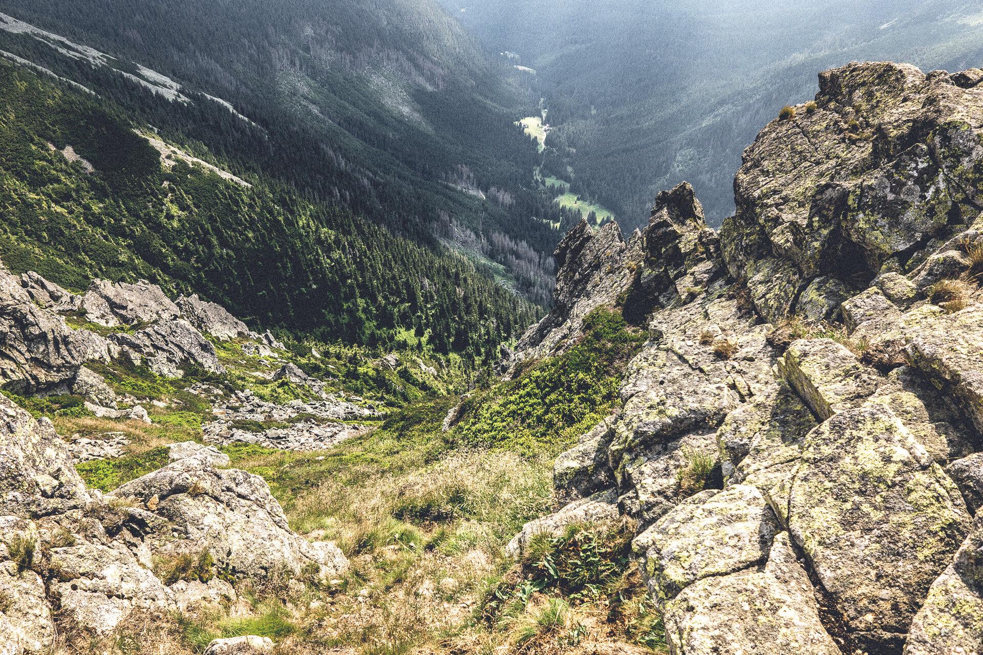 Blick beim Abstieg