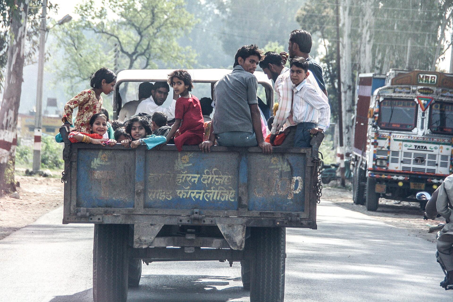 Laster in Indien