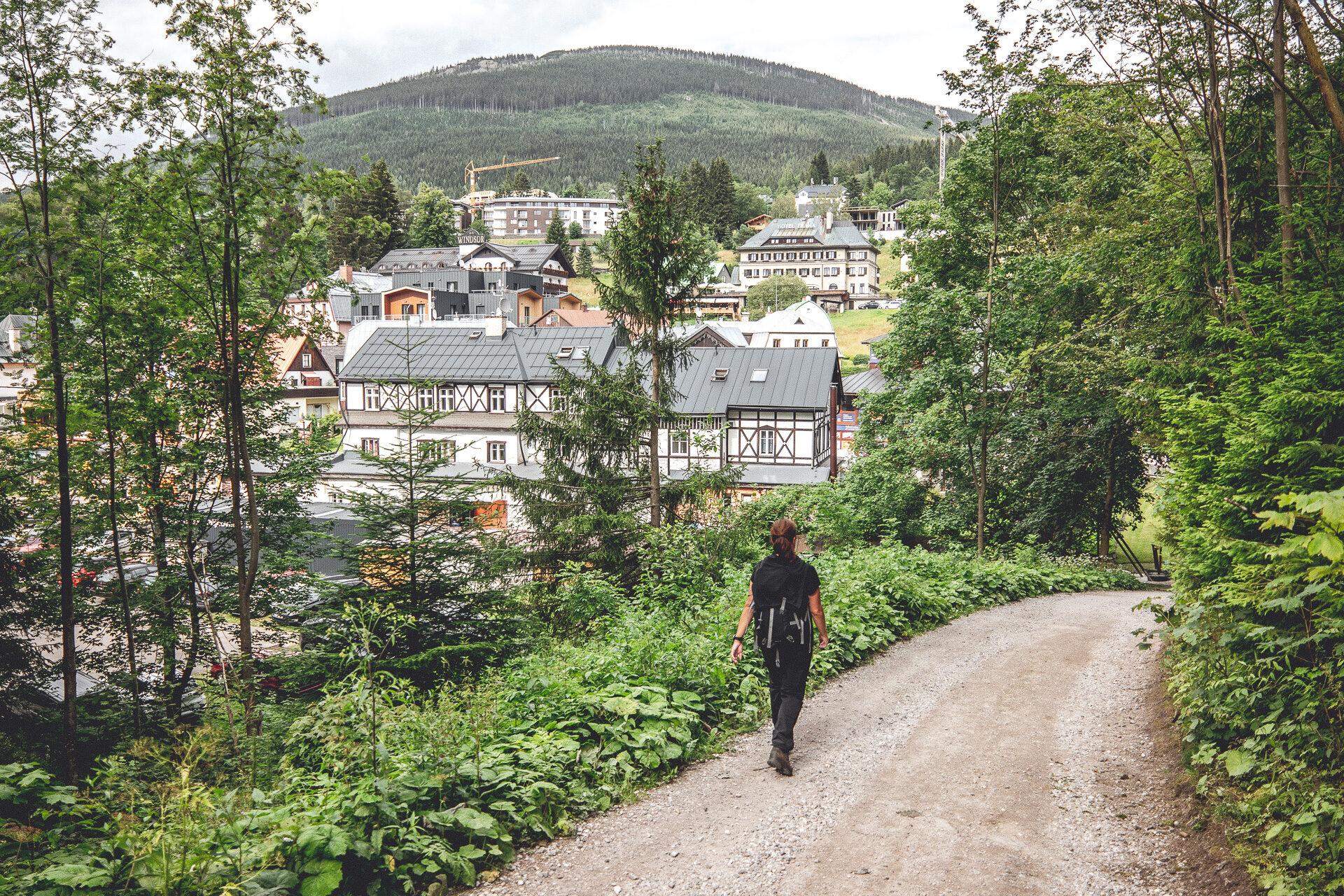 Spindlermühle und das Ende der Wanderung ist in Sicht …