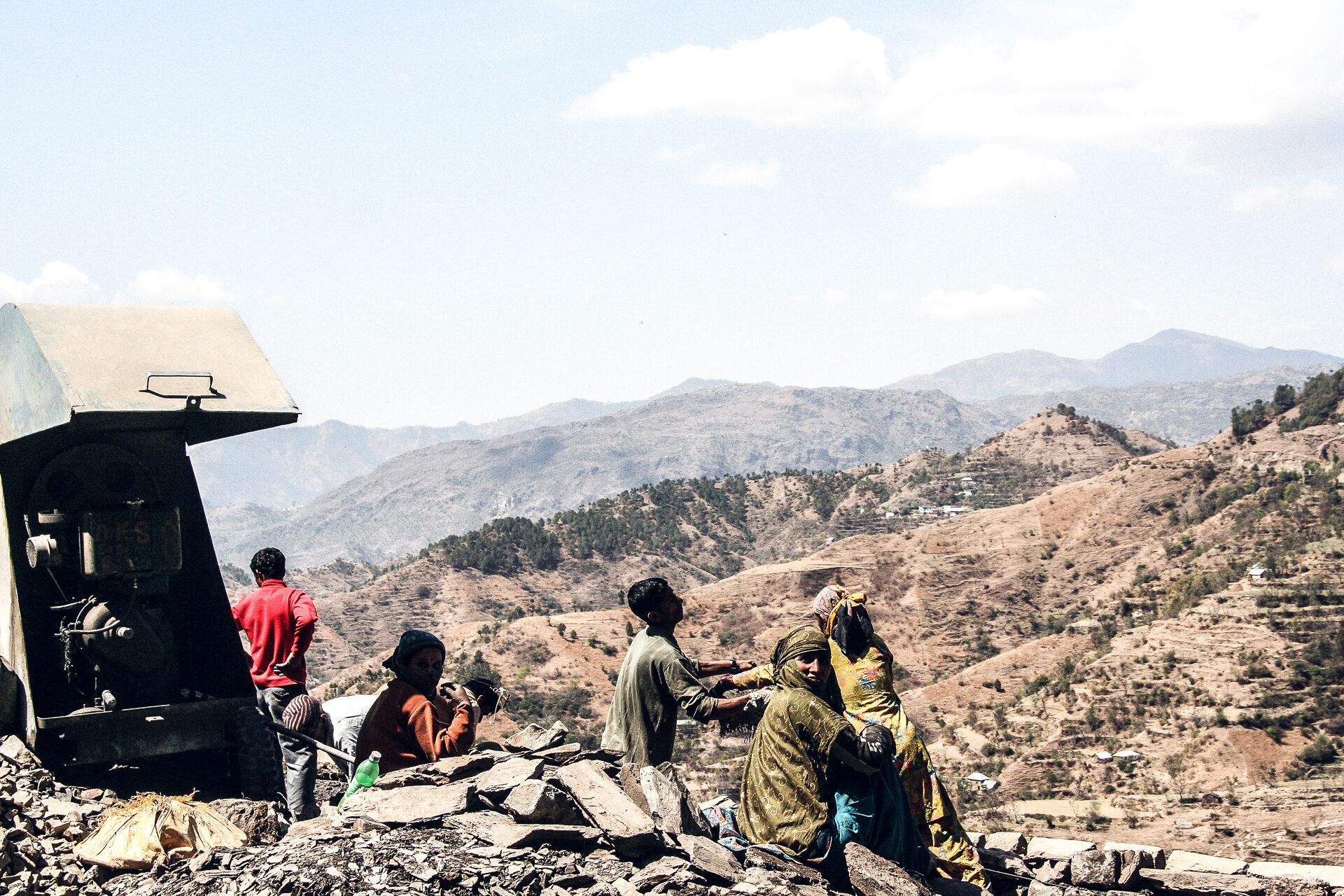 Strassenbau in Indien
